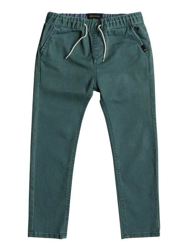 krandy elasticated pantalon coupe slim pour gar on 2 7. Black Bedroom Furniture Sets. Home Design Ideas