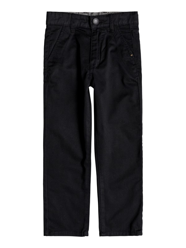 0 Boy's 2-7 Everyday Union Straight Fit Chinos Black EQKNP03044 Quiksilver