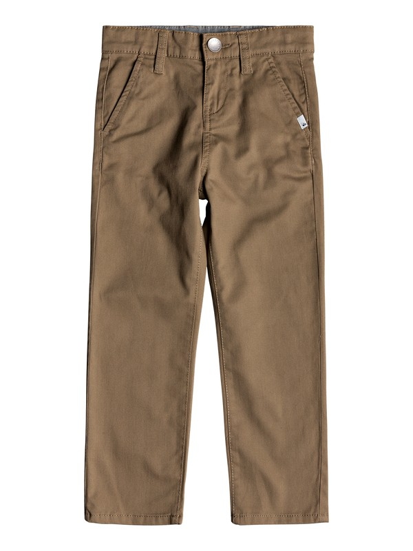 0 Boy's 2-7 Everyday Union Straight Fit Chinos Beige EQKNP03044 Quiksilver