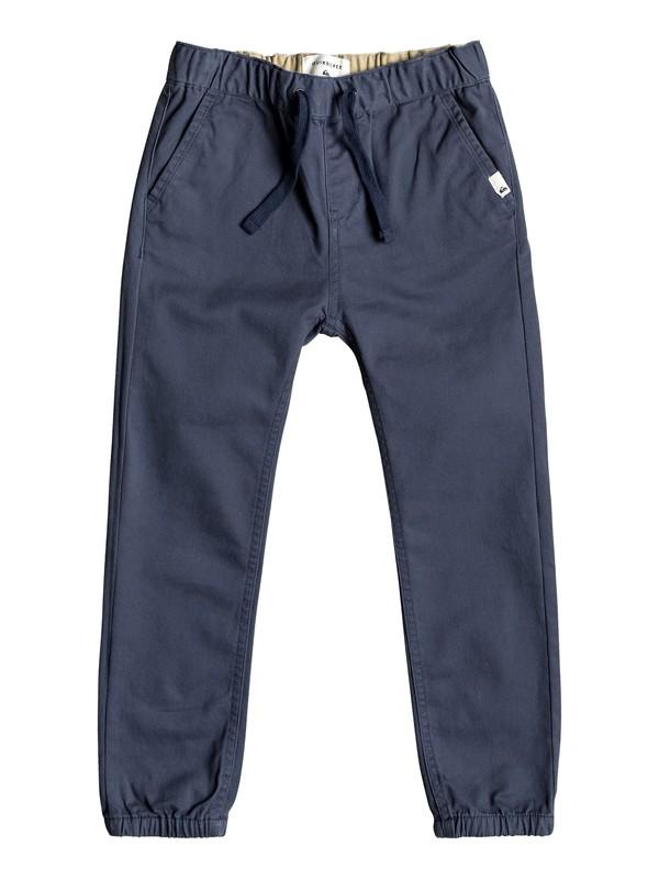 0 Krandy - Pantalones de Corte Recto para Chicos 2-7 Azul EQKNP03050 Quiksilver