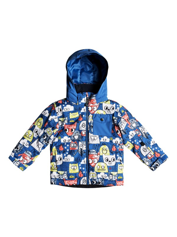 0 Boy's 2-7 Little Mission Snow Jacket Blue EQKTJ03009 Quiksilver