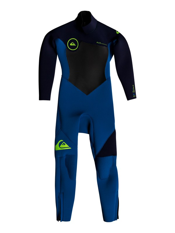 0 Boy's 2-7 3/2mm Syncro Series Back Zip GBS Wetsuit Blue EQKW103001 Quiksilver