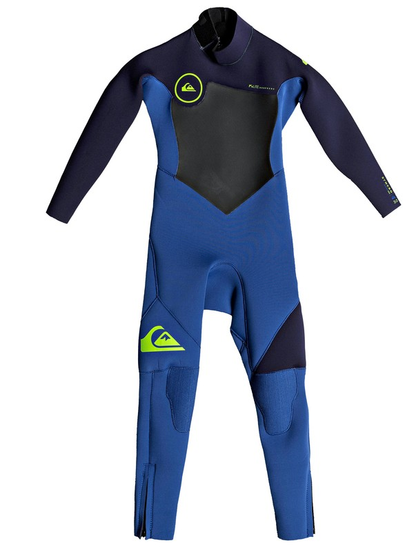 0 3/2mm Syncro Series - Back Zip FLT Wetsuit for Boys 2-7 Blue EQKW103002 Quiksilver