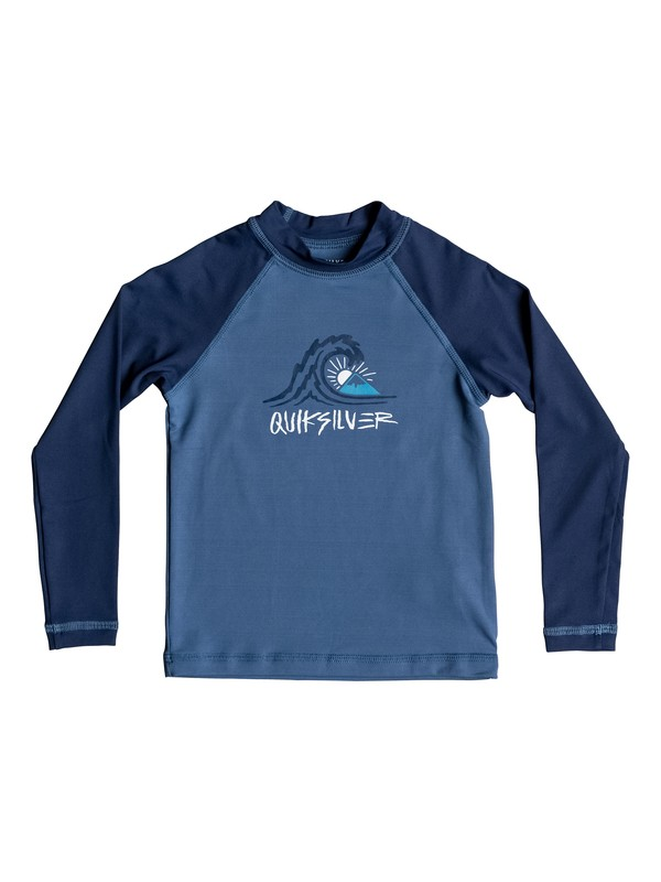0 Boy's 2-7 Bubble Dream Long Sleeve UPF 50 Rash Guard  EQKWR03034 Quiksilver