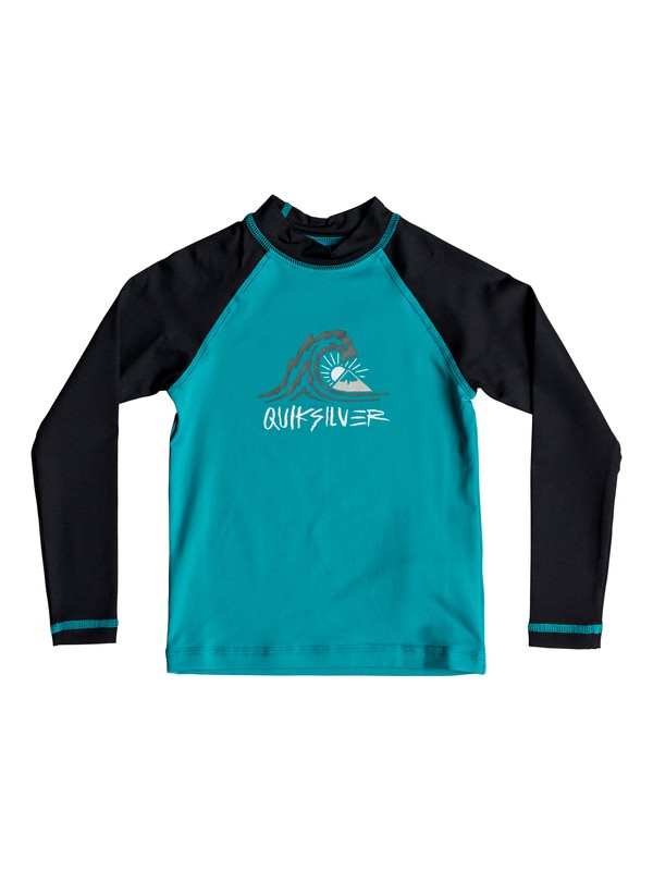 0 Boy's 2-7 Bubble Dream Long Sleeve UPF 50 Rash Guard Blue EQKWR03034 Quiksilver
