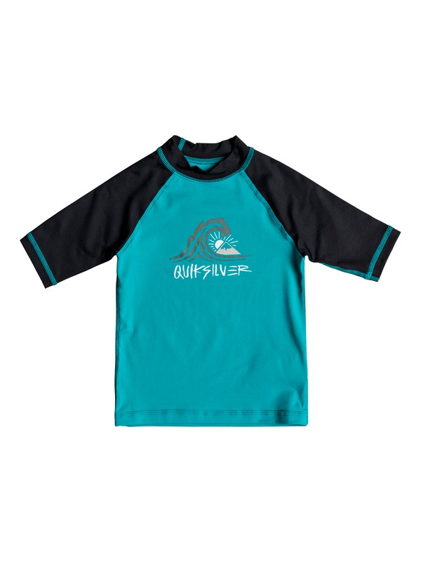 0 Boy's 2-7 Bubble Dream Short Sleeve UPF 50 Rash Guard Blue EQKWR03035 Quiksilver