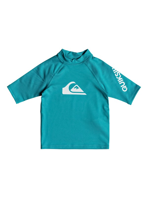 0 Boy's 2-7 All Time Short Sleeve UPF 50 Rash Guard Blue EQKWR03039 Quiksilver