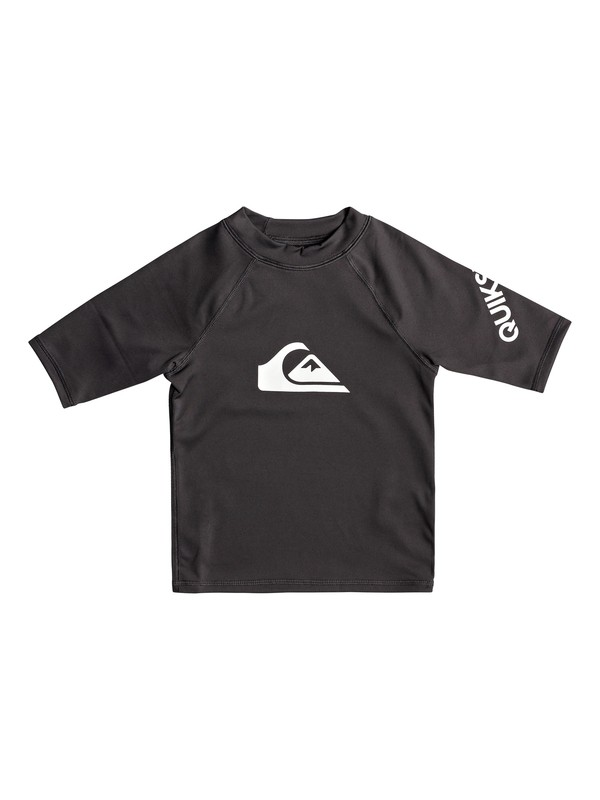 0 Boy's 2-7 All Time Short Sleeve UPF 50 Rashguard Black EQKWR03049 Quiksilver