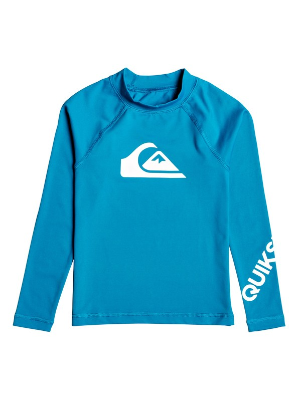 0 Boy's 2-7 All Time Long Sleeve UPF 50 Rashguard Blue EQKWR03050 Quiksilver