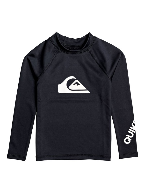 0 Boy's 2-7 All Time Long Sleeve UPF 50 Rashguard Black EQKWR03050 Quiksilver