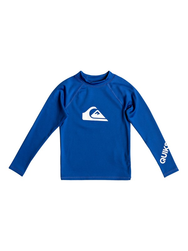 0 Boy's 2-7 All Time Long Sleeve UPF 50 Rashguard Purple EQKWR03050 Quiksilver