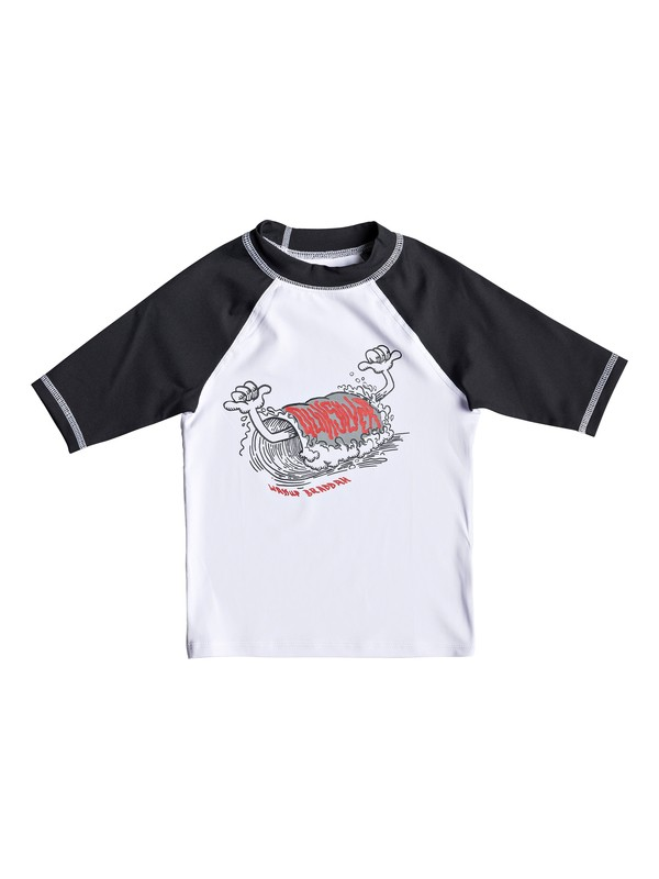 0 Bubble Dreams - Short Sleeve UPF 50 Rash Vest for Boys 2-7 White EQKWR03051 Quiksilver
