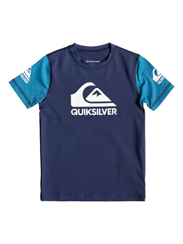 Heats On - Short Sleeve UPF 50 Surf T-Shirt for Boys 2-7  EQKWR03052
