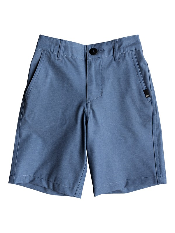 "0 Boy's 2-7 Union Heather 14"" Amphibian Boardshorts Blue EQKWS03142 Quiksilver"