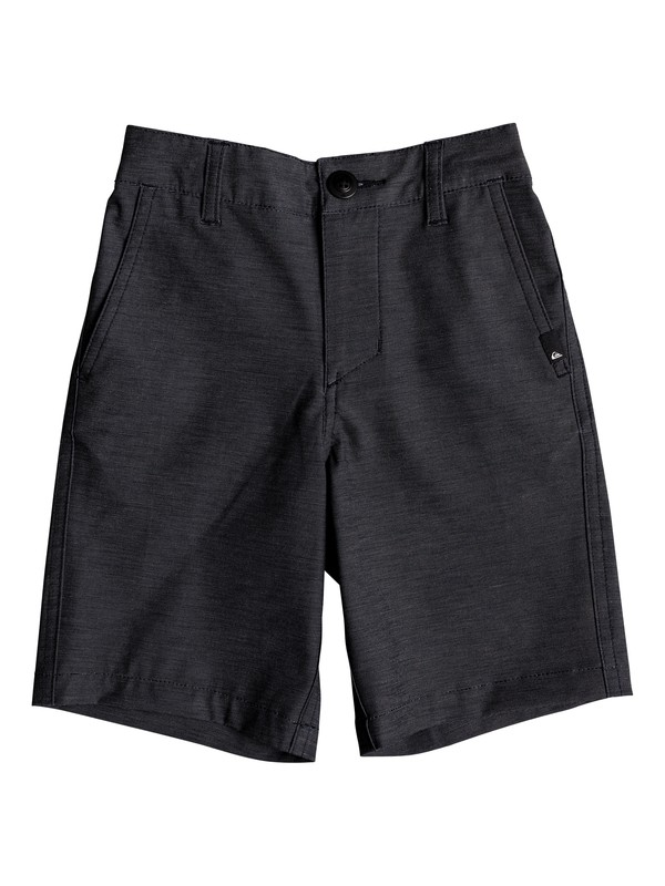 "0 Boy's 2-7 Union Heather 14"" Amphibian Boardshorts Black EQKWS03142 Quiksilver"