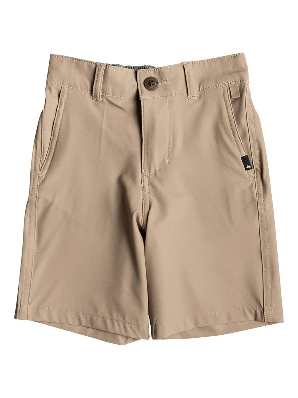 "0 Boy's 2-7 Union 14"" Amphibian Boardshorts Brown EQKWS03167 Quiksilver"