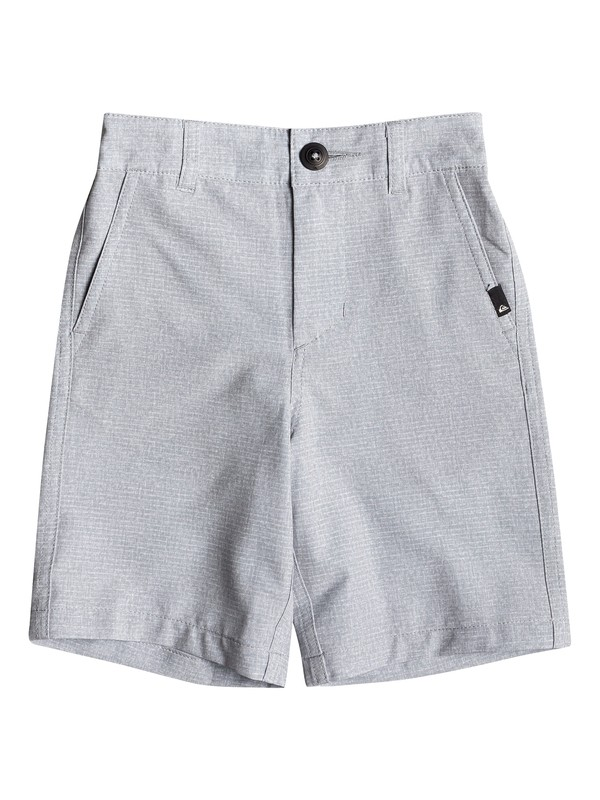 "0 Boy's 2-7 Union Heather 14"" Amphibian Boardshorts Grey EQKWS03168 Quiksilver"