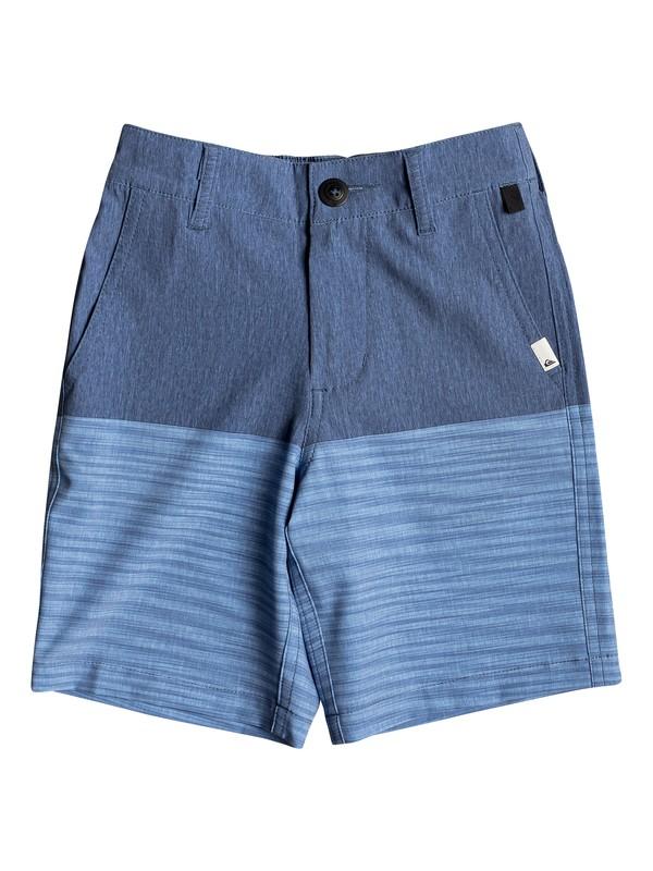 "0 Boy's 2-7 Union Division 14"" Amphibian Boardshorts Blue EQKWS03170 Quiksilver"
