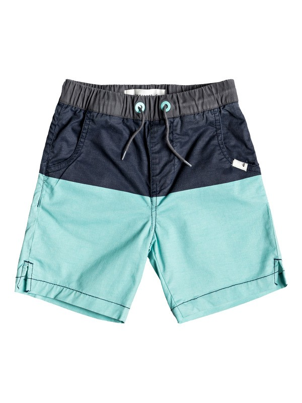 0 Yellow Daze - Elasticated Shorts for Boys 2-7 Blue EQKWS03173 Quiksilver