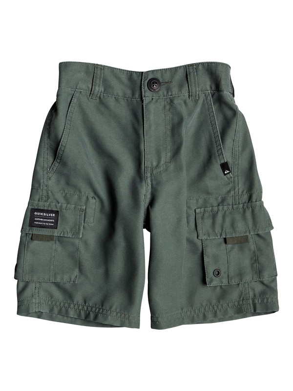 "0 Boy's 2-7 Rogue Surfwash 14"" Amphibian Boardshorts Brown EQKWS03175 Quiksilver"