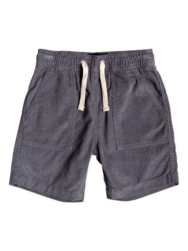 "0 Boy's 2-7 Sand Bowl 12"" Corduroy Shorts Black EQKWS03177 Quiksilver"