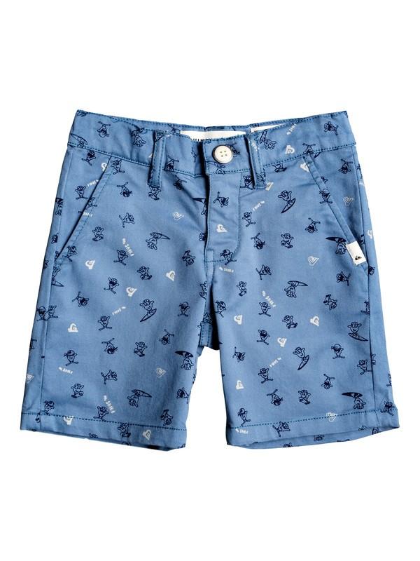 0 Boy's 2-7 Choccy Biccy Chino Shorts Blue EQKWS03178 Quiksilver