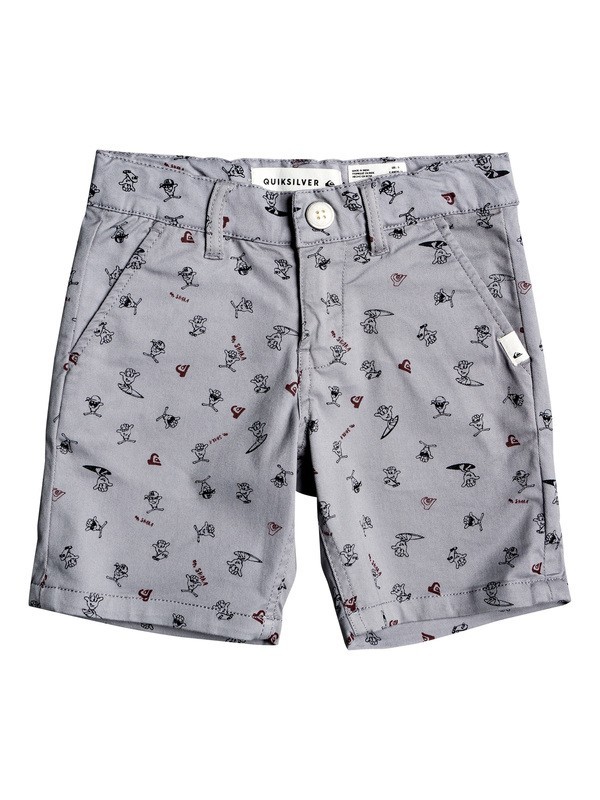 0 Boy's 2-7 Choccy Biccy Chino Shorts Grey EQKWS03178 Quiksilver