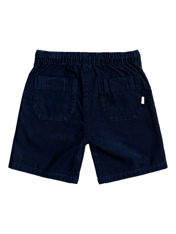 "Wax Out 11"" - Elasticated Corduroy Shorts for Boys 2-7  EQKWS03179"