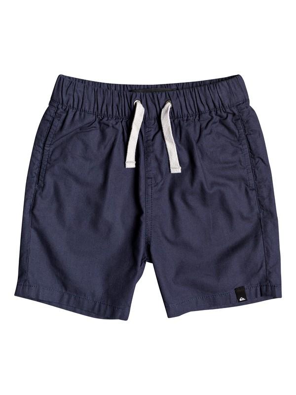 "0 Boy's 2-7 Seaside Roads 16"" Elasticated Shorts Blue EQKWS03182 Quiksilver"
