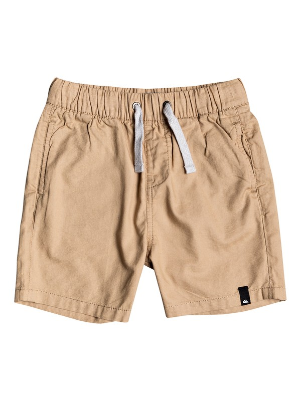 "0 Boy's 2-7 Seaside Roads 16"" Elasticated Shorts Brown EQKWS03182 Quiksilver"