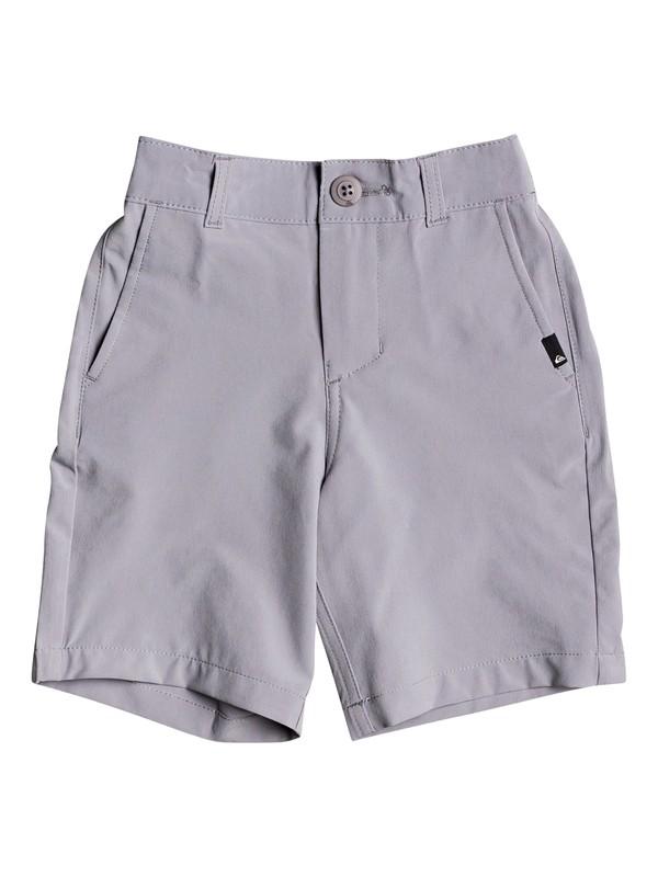 "0 Boy's 2-7 Union 14"" Amphibian Boardshorts Grey EQKWS03183 Quiksilver"