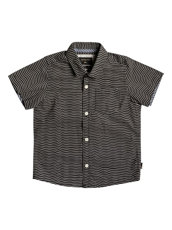 0 Boy's 2-7 Heat Wave Short Sleeve Shirt Black EQKWT03122 Quiksilver