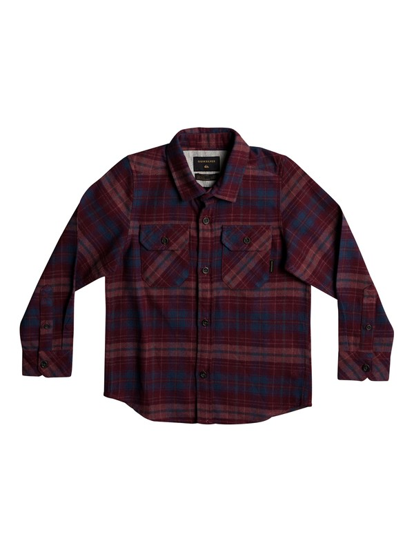 0 Boy's 2-7 Fitzspeere Long Sleeve Shirt Red EQKWT03135 Quiksilver