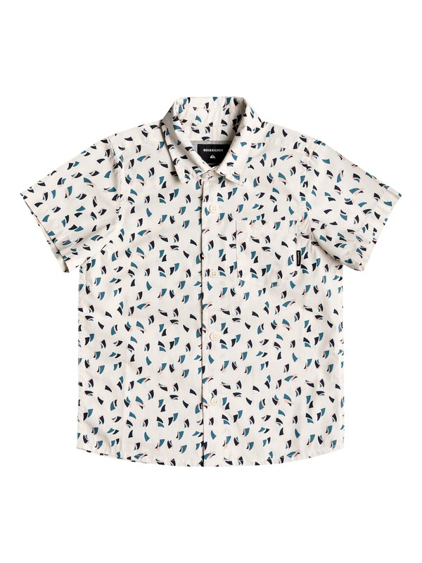 0 Boy's 2-7 Akan Waters Short Sleeve Shirt White EQKWT03139 Quiksilver