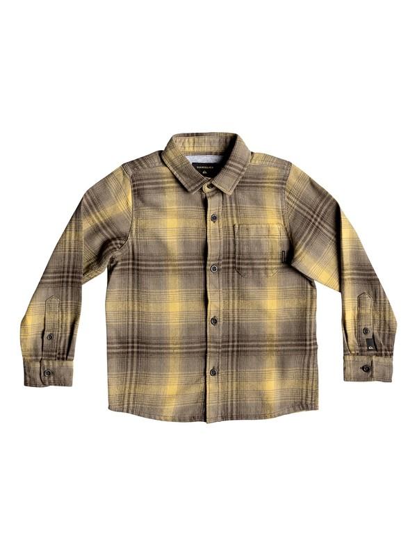 0 Boy's 2-7 Fatherfly Long Sleeve Shirt Brown EQKWT03143 Quiksilver