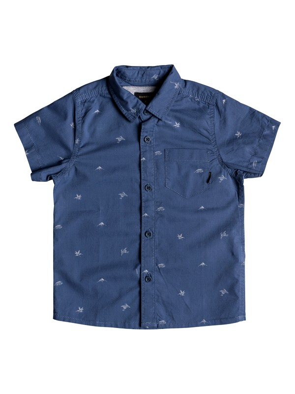 0 Boy's 2-7 Fuji Short Sleeve Shirt Blue EQKWT03145 Quiksilver
