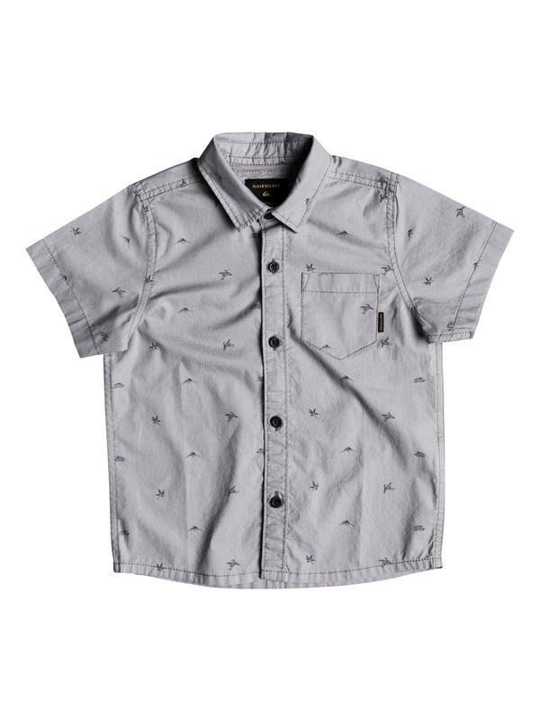0 Boy's 2-7 Fuji Short Sleeve Shirt Grey EQKWT03145 Quiksilver