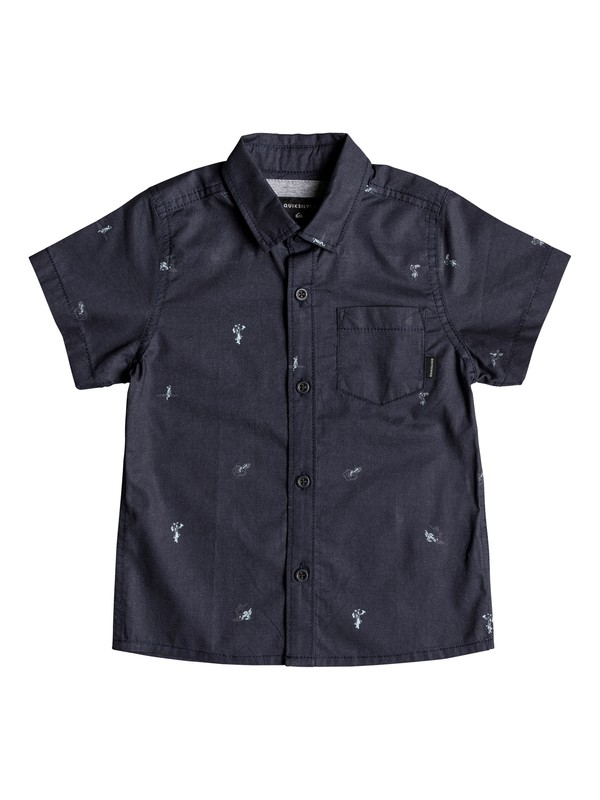 0 Boy's 2-7 Mini Kamakura Short Sleeve Shirt Blue EQKWT03147 Quiksilver