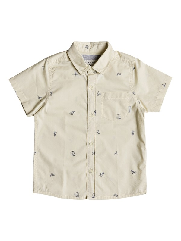 0 Boy's 2-7 Mini Kamakura Short Sleeve Shirt Beige EQKWT03147 Quiksilver