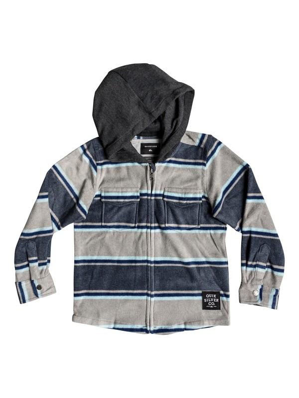 0 Boy's 2-7 Surf Days Long Sleeve Hooded Shirt Blue EQKWT03151 Quiksilver