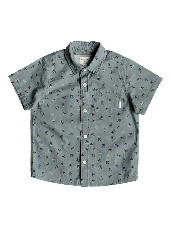 0 Boy's 2-7 Mini Motif Short Sleeve Shirt Blue EQKWT03152 Quiksilver
