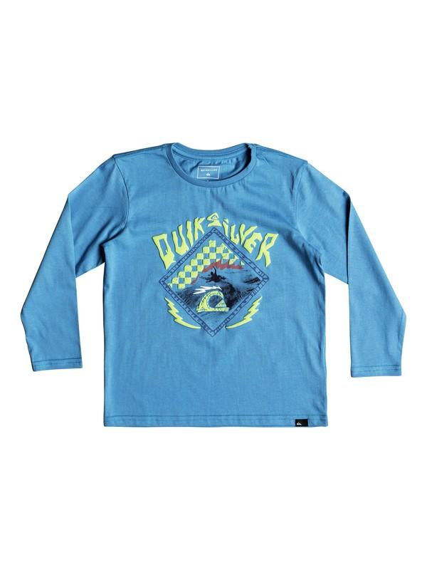 0 Hb Check - Long Sleeve T-Shirt for Boys 2-7 Blue EQKZT03240 Quiksilver