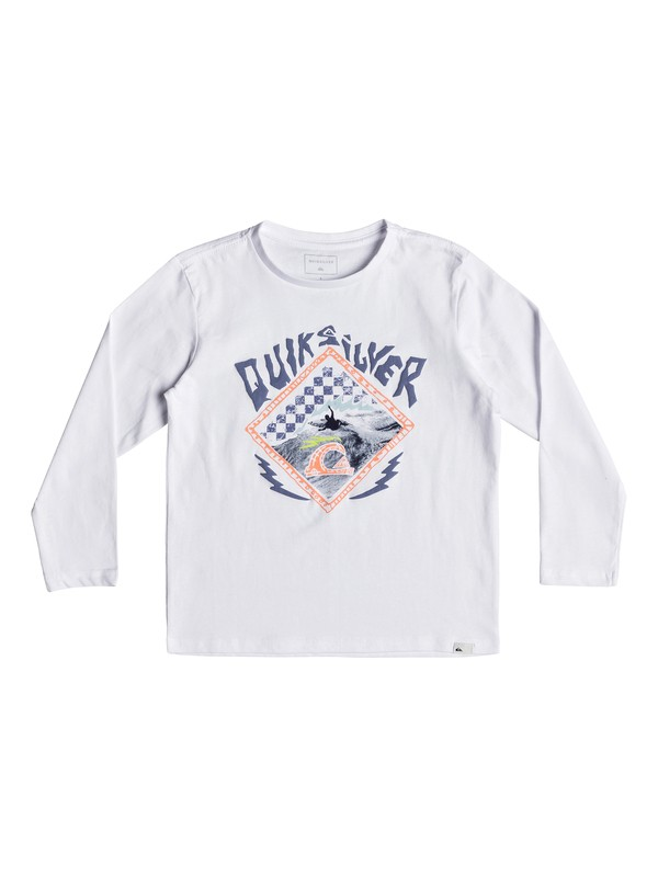 0 Hb Check - Long Sleeve T-Shirt for Boys 2-7 White EQKZT03240 Quiksilver