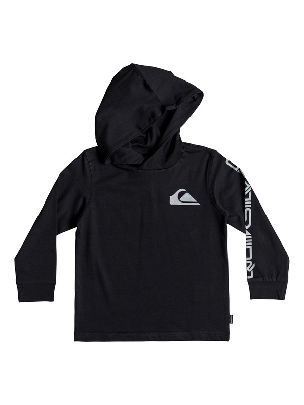 0 Boy's 2-7 Vice Versa Long Sleeve Hooded Tee Black EQKZT03277 Quiksilver