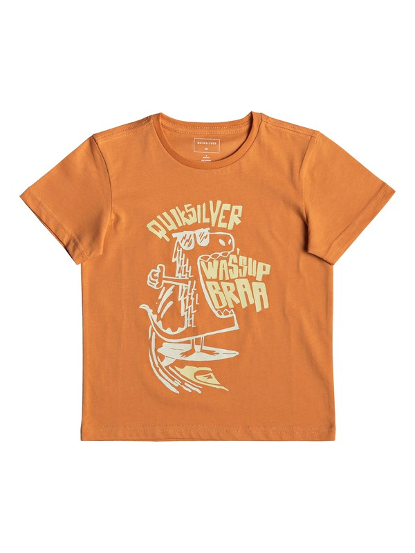 0 Wasup Dino - Camiseta para Chicos 2-7 Naranja EQKZT03288 Quiksilver