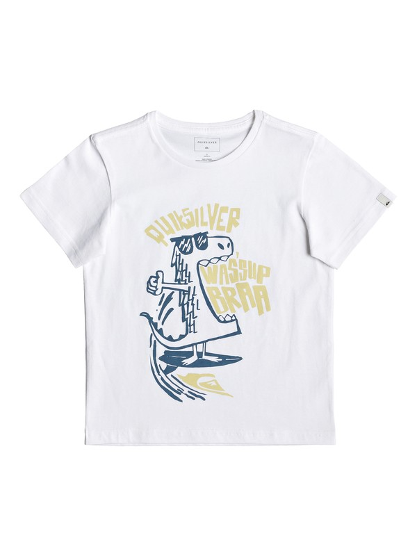 0 Детская футболка Wasup Dino Белый EQKZT03288 Quiksilver