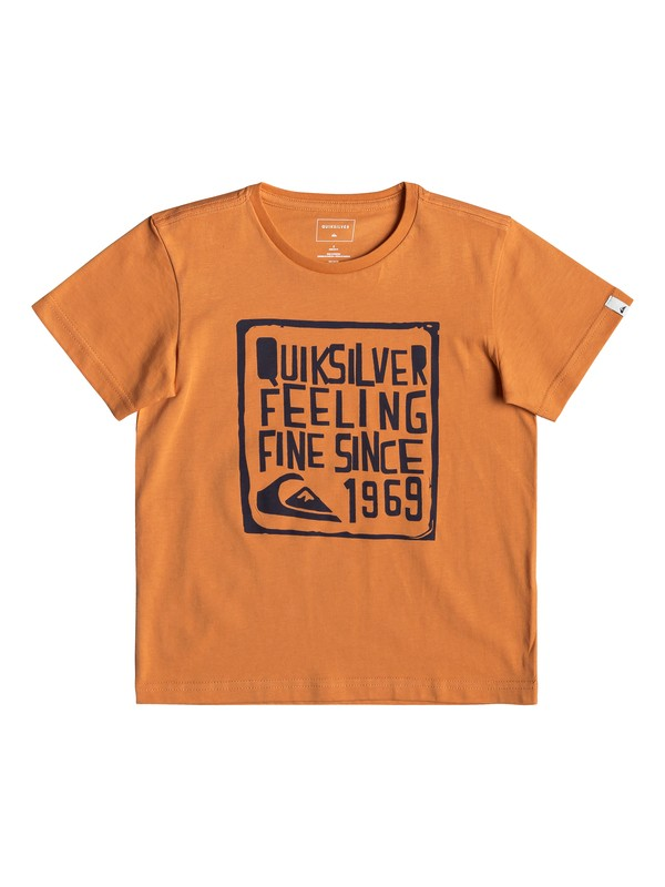 0 Boy Feel Fine - T-Shirt for Boys 2-7 Orange EQKZT03293 Quiksilver