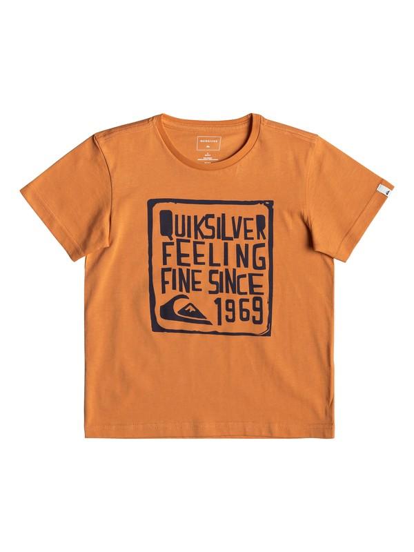 0 Boy Feel Fine - Camiseta para Chicos 2-7 Naranja EQKZT03293 Quiksilver