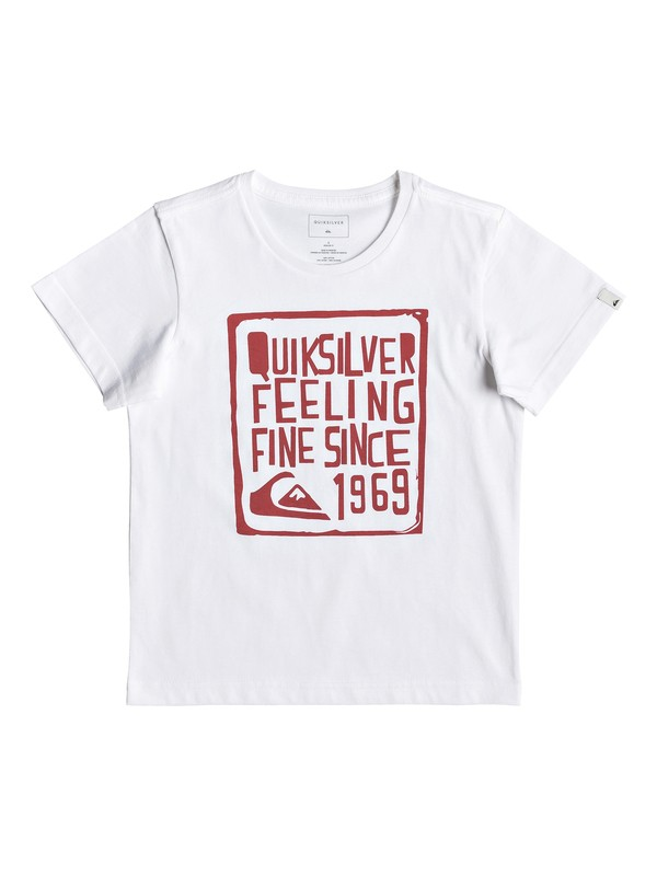 0 Boy Feel Fine - T-Shirt for Boys 2-7 White EQKZT03293 Quiksilver