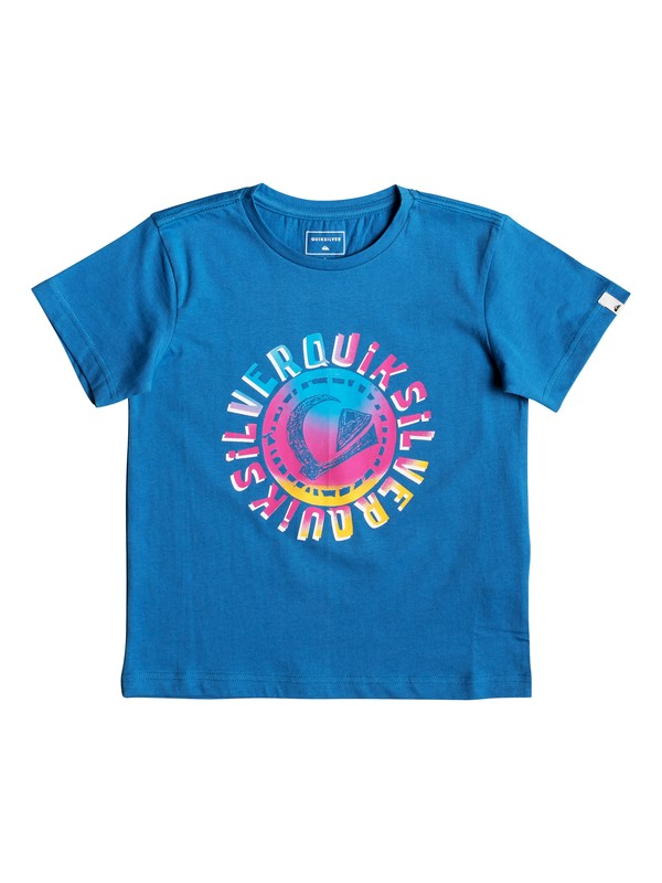 0 Rasta Logo - T-Shirt for Boys 2-7 Blue EQKZT03294 Quiksilver